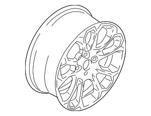 Wheel, Alloy - Ford (GN1Z-1007-K)