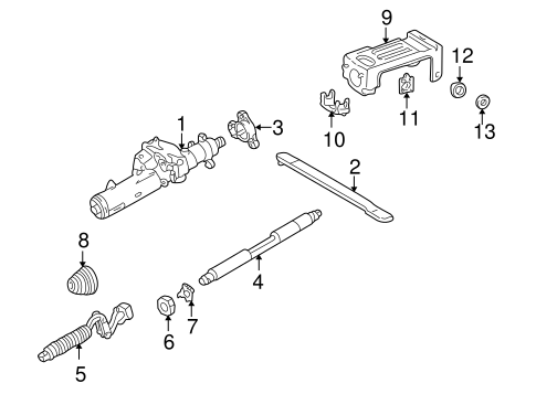 Steering Column Assembly for 1997 Mercedes-Benz E 320 #0
