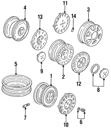 Cap Assembly, Aluminum Wheel Center (Sankei)