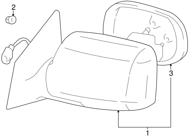 Genuine Toyota 87961-1E840 Rear View Mirror Sub Assembly