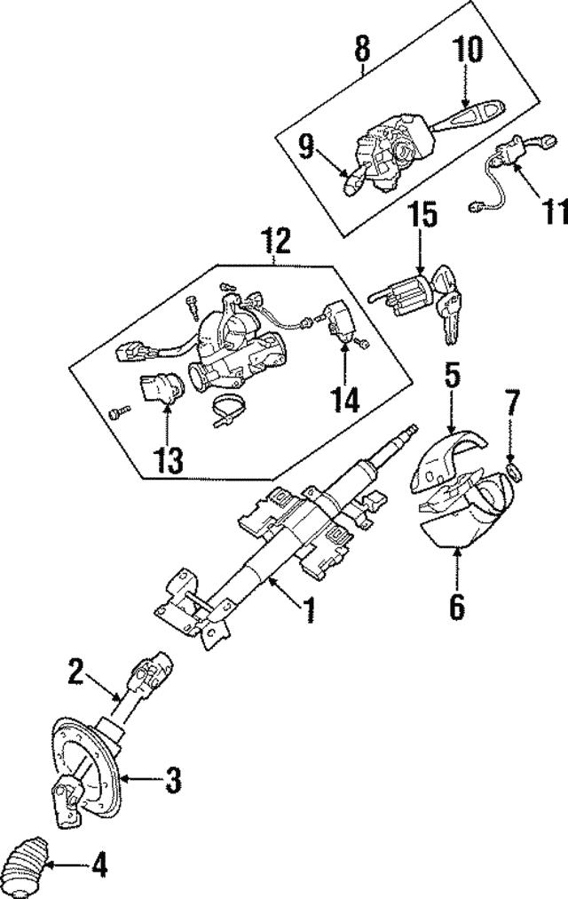 1991-2004 mitsubishi ignition lock cylinder mb888092 | auto parts  mitsubishi parts warehouse