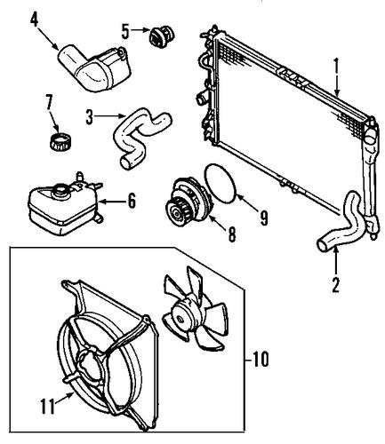 oem 2010 chevrolet hhr radiator  u0026 components parts