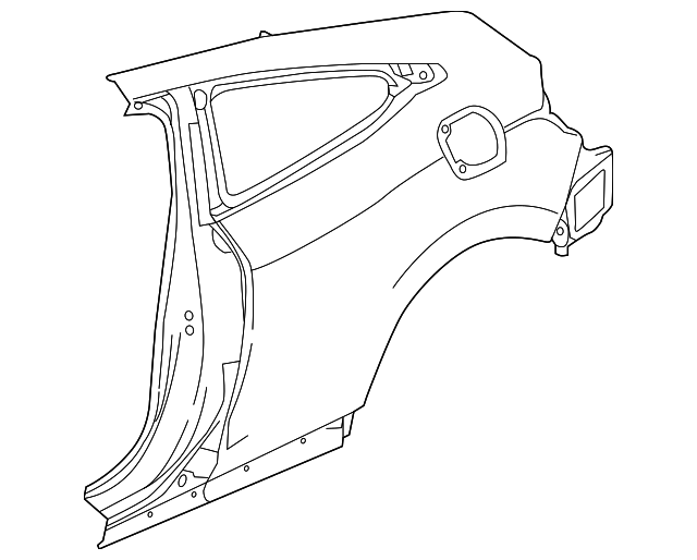 Panel Set R Rear Outer