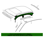 Roof Rail - Mercedes-Benz (210-637-01-47)