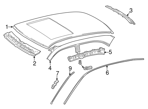 Exterior Trim - Roof for 1997 Mercedes-Benz E 320 #0