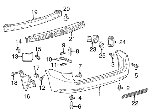 BODY/BUMPER & COMPONENTS - REAR for 2013 Toyota Sienna #1