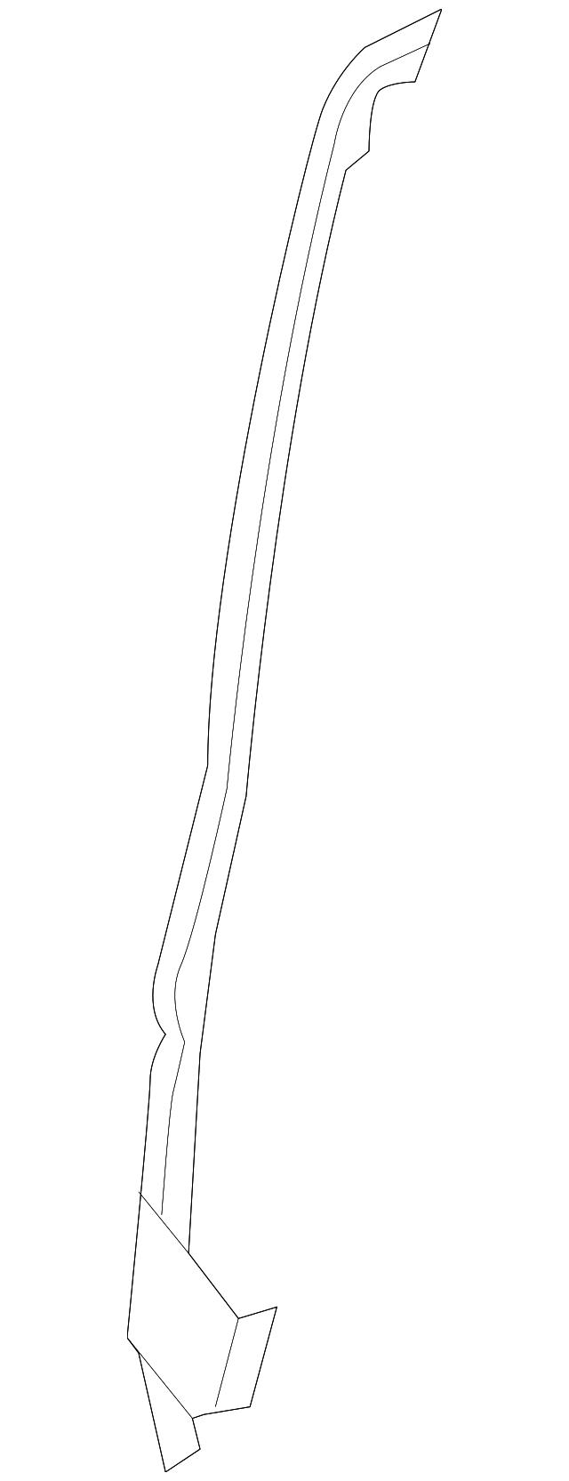 Genuine Ford 9L3Z-1525324-B Weatherstrip