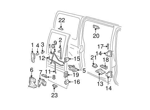 Rear Door for 2018 Chevrolet Express 2500 #2