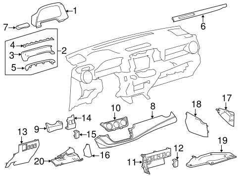 BODY/INSTRUMENT PANEL COMPONENTS for 2014 Toyota RAV4 #1