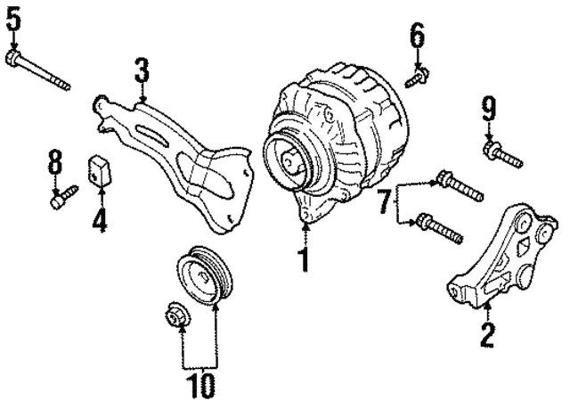 Alternator Bolt - Nissan (11717-53F00)