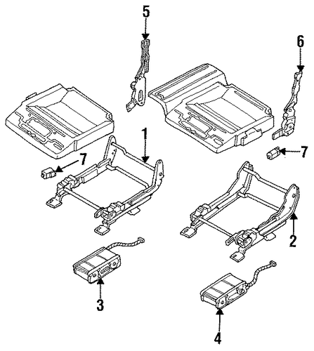 Power Seats Parts For 1995 Cadillac Fleetwood