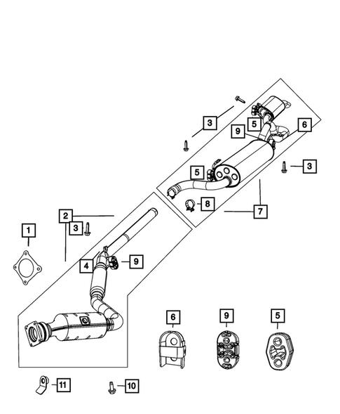 Exhaust System For 2010 Dodge Grand Caravan Fisher Cjdr Parts