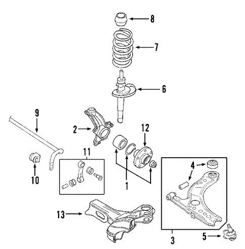 Suspension Components for 2000 Volkswagen Golf #2