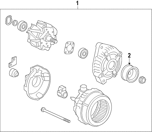 Alternator Assembly (CSP47) (Denso) - Acura (31100-5X6-J01)