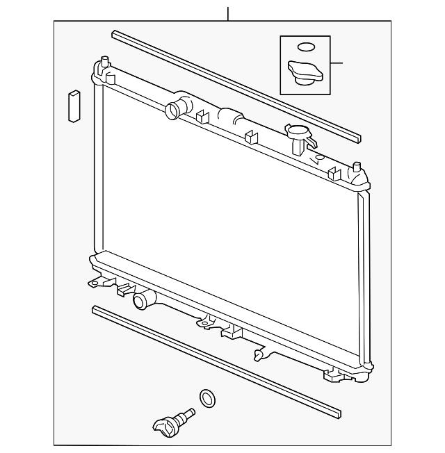 2015-2020 Acura TLX SEDAN Radiator (Denso) 19010-5J2-A01