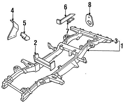 Frame Components For 1994 Land Rover Defender 90