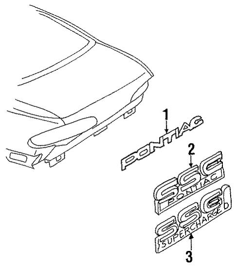 exterior trim trunk for 1998 pontiac bonneville 1996 Pontiac Bonneville exterior trim trunk for 1998 pontiac bonneville