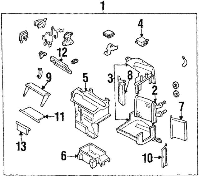 1997 2001 Infiniti Q45 Heater Core B7140 5p100