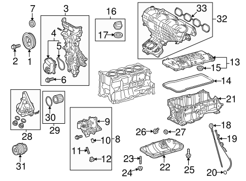 ENGINE/ENGINE PARTS for 2012 Toyota Prius #1