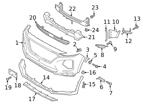 Download 2013 Hyundai Accent Front Bumper Parts Diagram Images