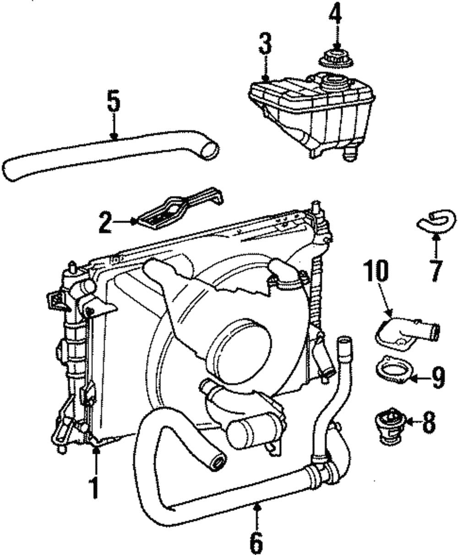 Genuine Ford Engine Coolant Reservoir 2w7z