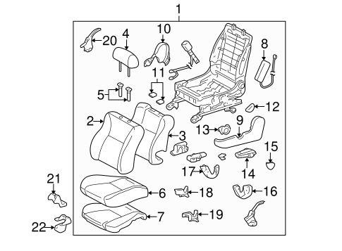 Front Seat Components For 2007 Toyota Corolla