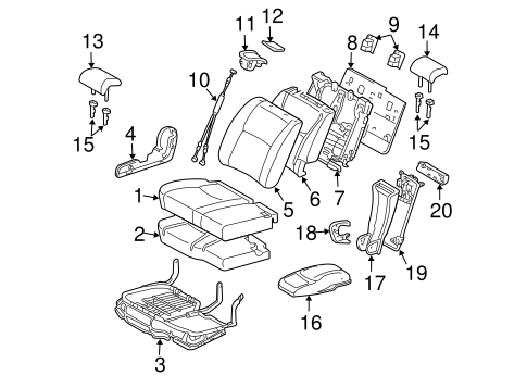BODY/SECOND ROW SEATS for 2004 Toyota Highlander #3