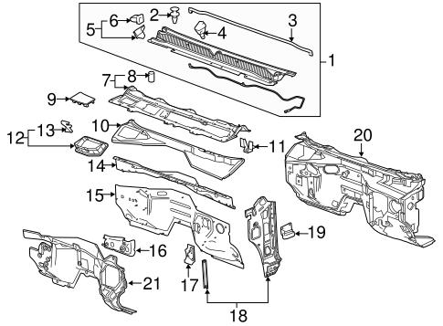 Oem 2015 Chevrolet Suburban Cowl Parts