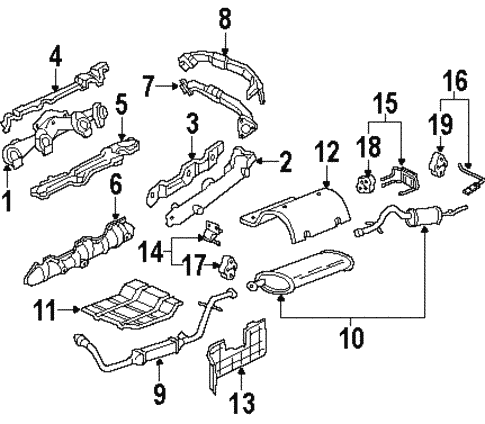 Exhaust Components For 2002 Oldsmobile Silhouette Gm Parts Online