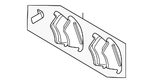 Rear Pads - Mercedes-Benz (003-420-24-20)