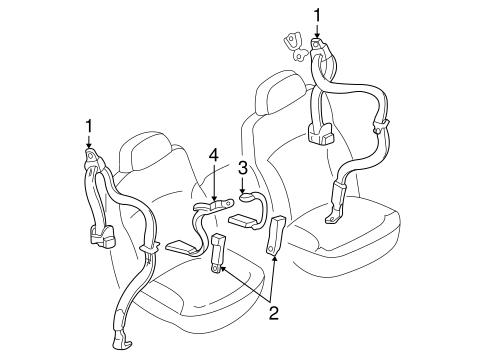 Oem 2000 Chevrolet S10 Front Seat Belts Parts