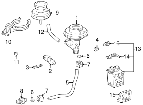 Emission Components for 1997 Toyota RAV4 #0