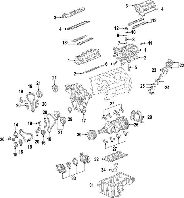 Engine Camshaft - GM (12638173)