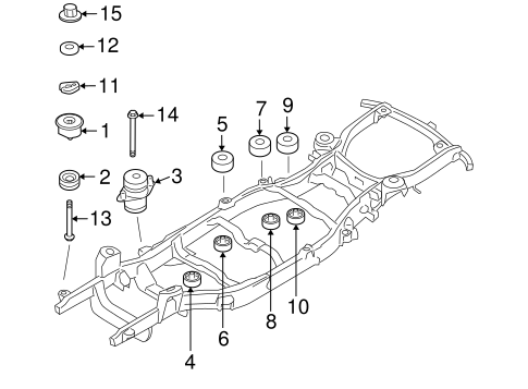 Body/Frame Components for 2009 Ford Explorer #1