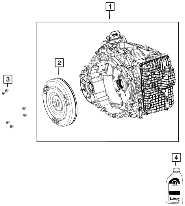 Mopar Pkg Part With Torque Converter Rl311996ba