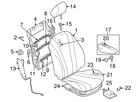 Passenger Seat Components For 2015 Mazda 5