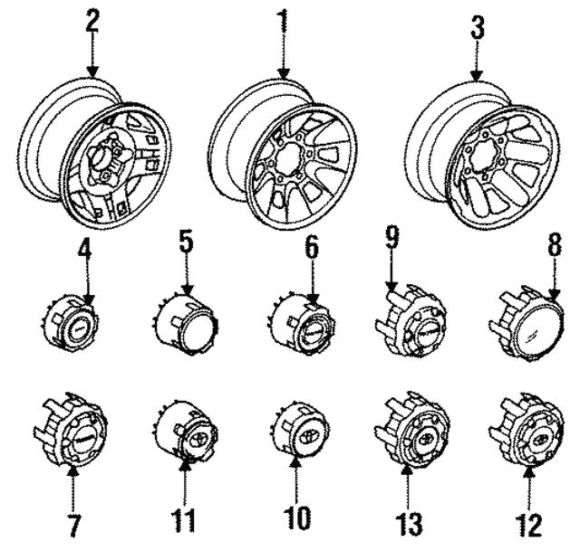 1989 1991 Toyota Wheel Steel 42601 35510
