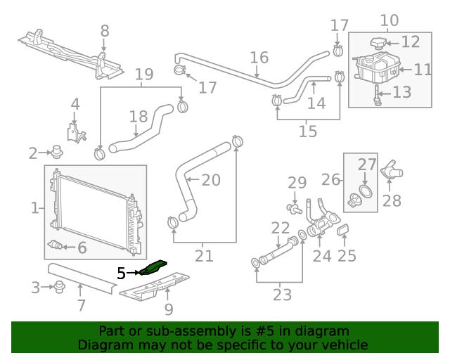 GM OEM-Radiator Lower Bracket 23120323