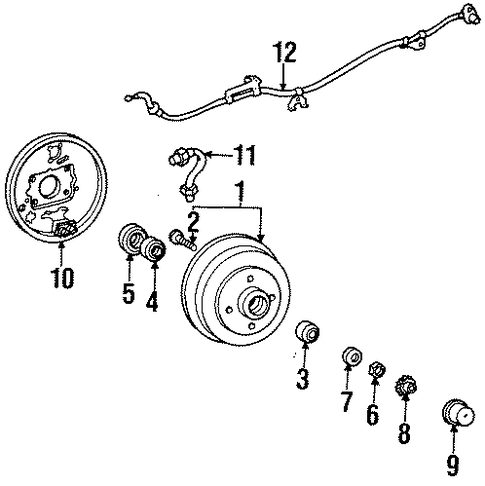 BRAKES/REAR BRAKES for 1997 Toyota Tercel #1