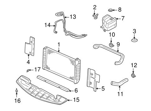 oem 1999 cadillac seville radiator  u0026 components parts