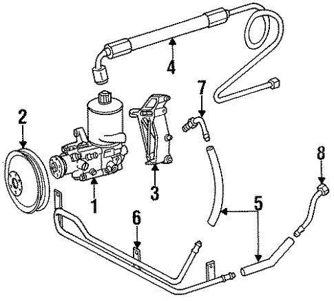 Pump Hoses For 1991 Mercedes Benz 350 Sdl Mb Oem Parts