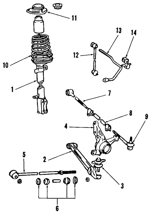 rear suspension for 1991 toyota mr2