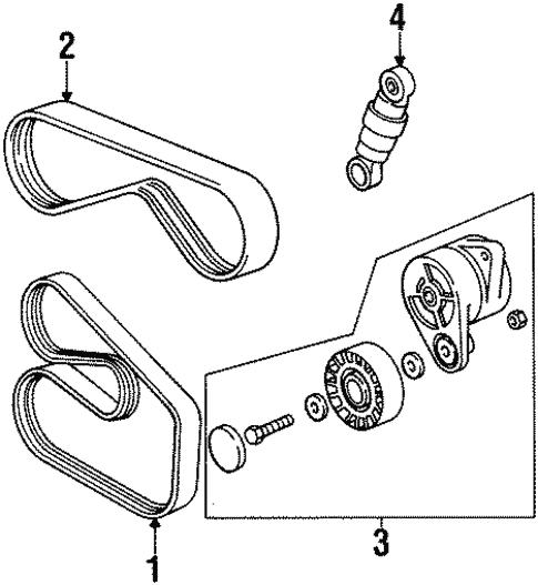 Belts Pulleys For 1997 Bmw 328i
