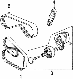 genuine bmw belts tensioners getbmwparts GM Air Conditioning Diagram ac belt ac belt