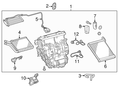 HVAC/SWITCHES & SENSORS for 2014 Toyota Corolla #3