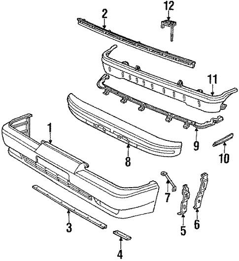 genuine oem front bumper parts for 1990 toyota supra turbo soarer supra suspension