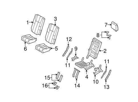 Body/Third Row Seats for 2014 Ford Expedition #2