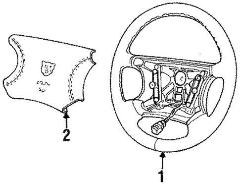Steering Wheel Trim For 1996 Jaguar Xj6