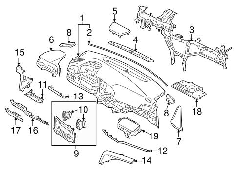 Instrument Panel Components For 2018 Hyundai Elantra