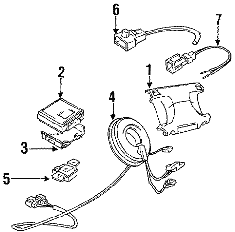 Air Bag Components For 1996 Dodge Stealth